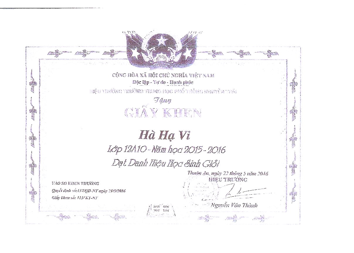 courrier Vietnam et diplôme (3)