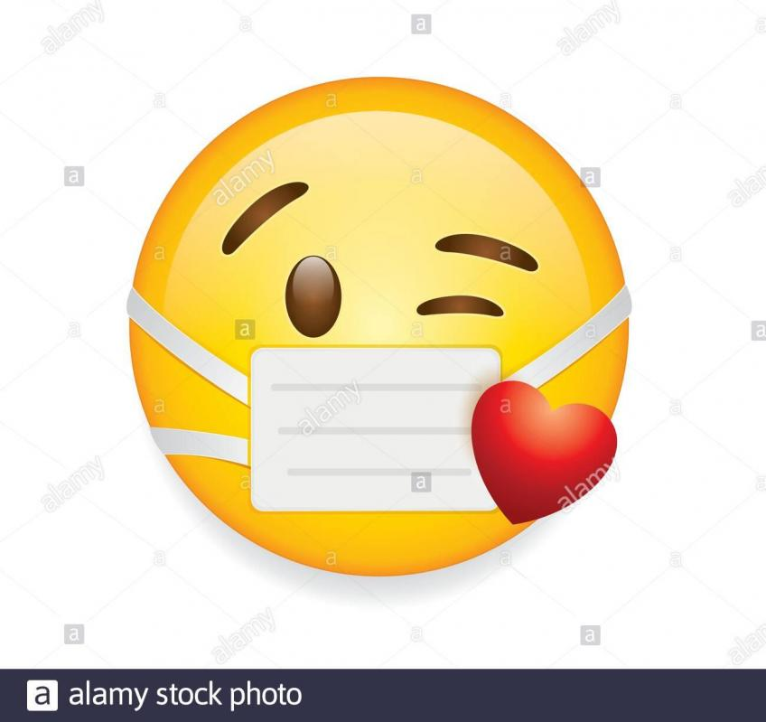 Masque kissing smiley avec le masque l oeil et le coeur 2bt61t9