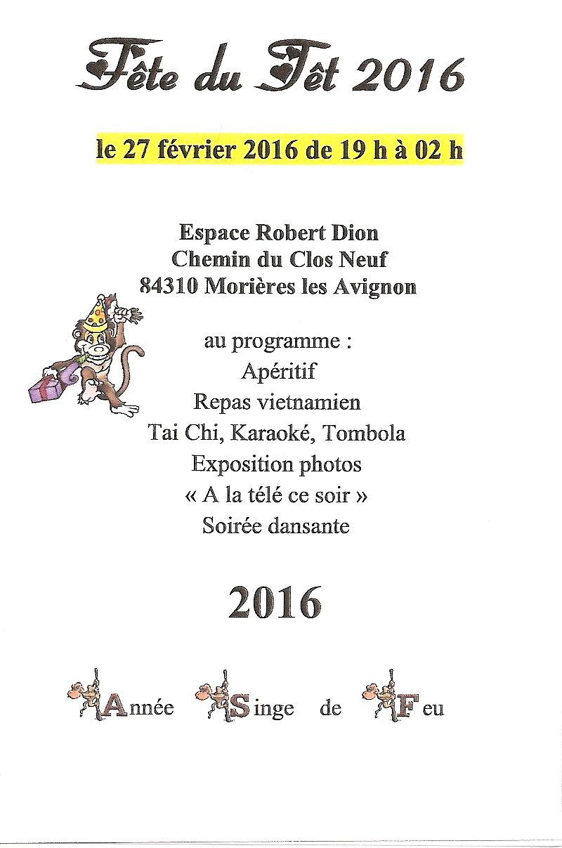 Programme tet 2016